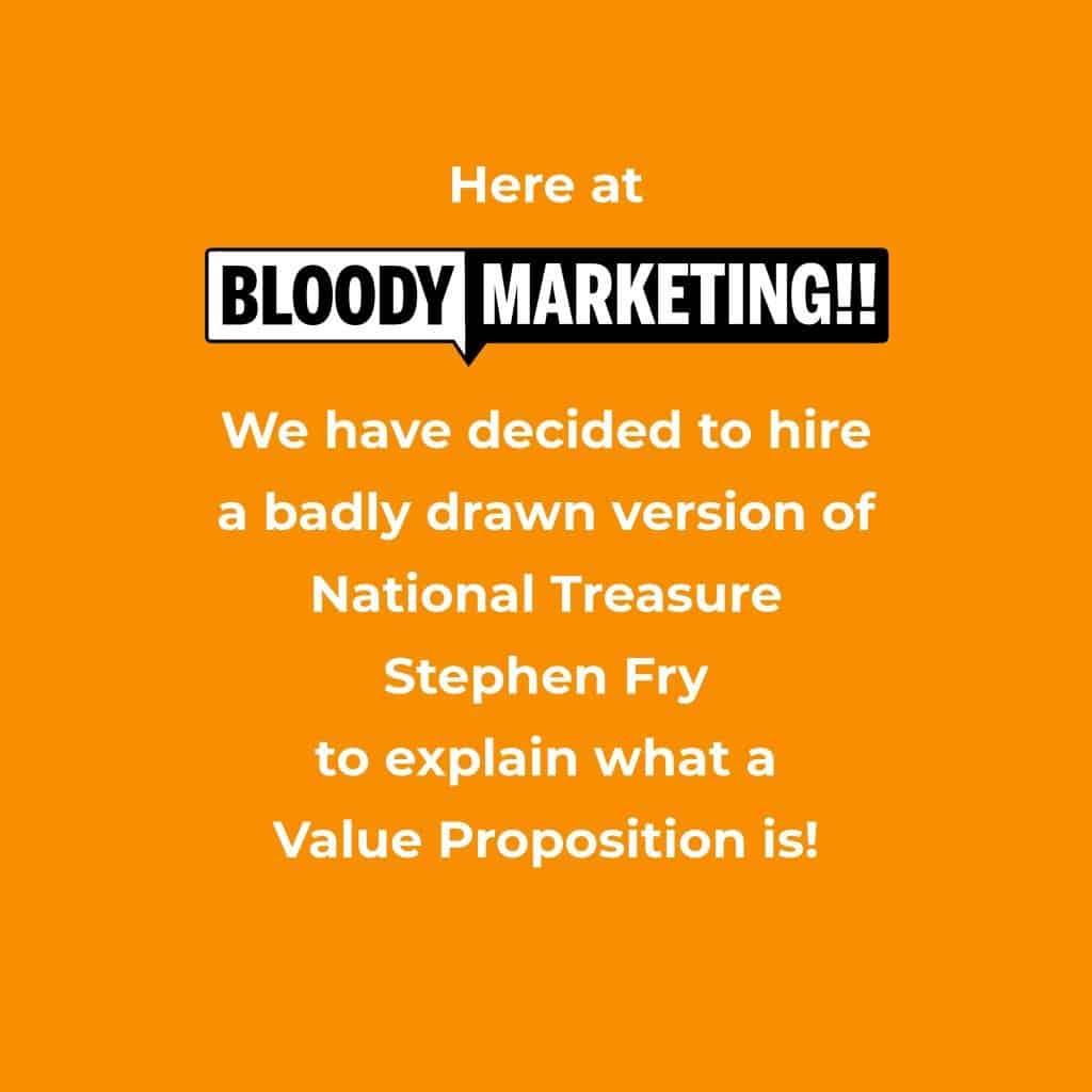 Badly drawn Stephen Fry VP Bloody Marketing!!